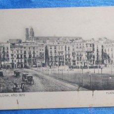 Postales: BARCELONA AÑO 1870. PLAZA DE PALACIO. SANSOT Y MISSÉ HNOS, BARCELONA.. Lote 49061333