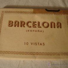 Postales: ANTIGUO LIBRILLO POSTAL POSTALES BARCELONA 10 VISTAS. Lote 49165421