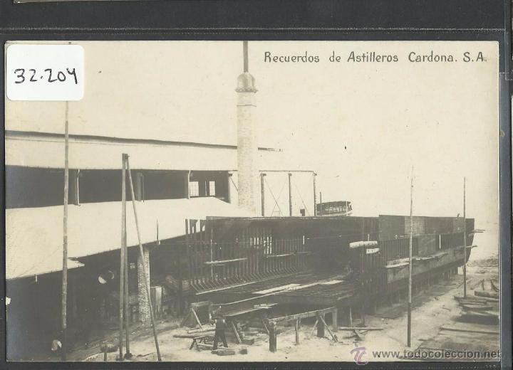 BARCELONA - RECUERDOS DE ASTILLEROS CARDONA SA - FOTOGRAFICA - (32204) (Postales - España - Cataluña Antigua (hasta 1939))