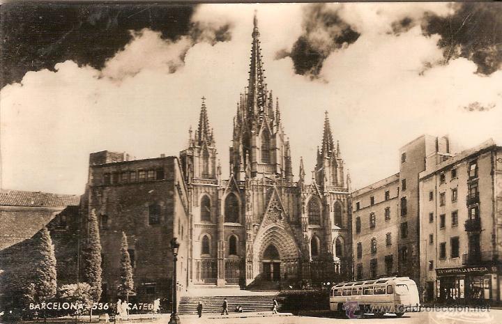 BARCELONA, CATEDRAL, TALLERES A. ZERKOWITZ - CIRCULADA (Postales - España - Cataluña Antigua (hasta 1939))