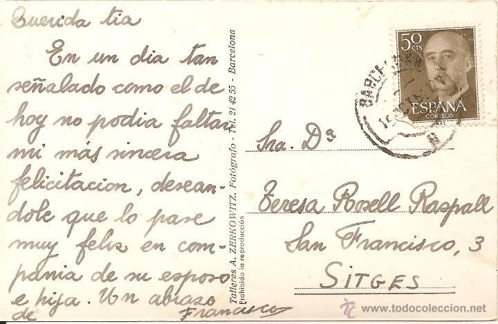 Postales: BARCELONA, CATEDRAL, TALLERES A. ZERKOWITZ - CIRCULADA - Foto 2 - 49212774