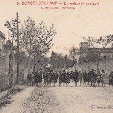 Postales: POSTAL LES BORGES DEL CAMP (TARRAGONA) - ENTRADA A LA POBLACIÓ- EDITA ROISIN NUM.5. Lote 49258800