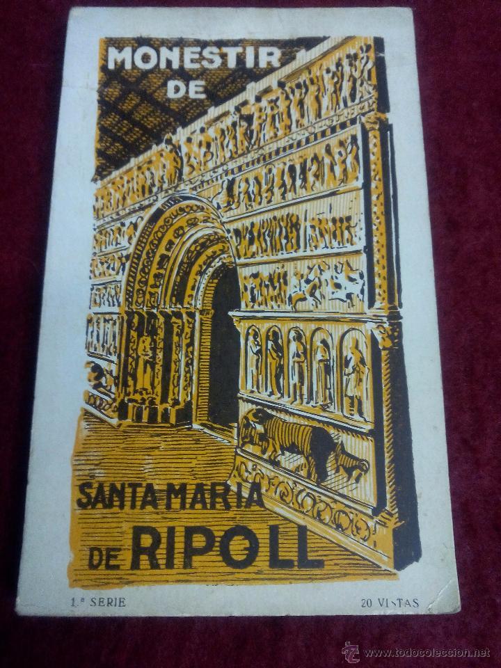 MONESTIR DE SANTA MARIA DE RIPOLL .- 1ª SERIE .- BLOCK DE 20 POSTALES .- FOTO L. ROISIN (Postales - España - Cataluña Antigua (hasta 1939))
