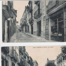 Postales: P-1210. LOTE 2 POSTALES FOTOGRAFICAS COLOREADAS DE SANT SADURNI DE NOIA.. Lote 49304881