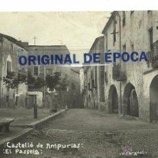 Postales: (PS-45344)POSTAL FOTOGRAFICA DE CASTELLO DE AMPURIAS-EL PASSEIG. Lote 49321701