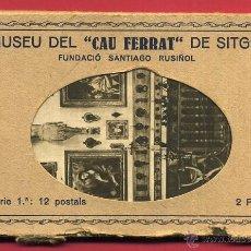 Postales: LOTE SERIE 11 POSTALES MUSEU DEL CAU FERRAT , SITGES , BARCELONA , ORIGINALES.. Lote 49463692