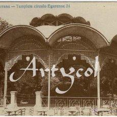 Postales: RARISIMA POSTAL FOTOGRAFICA - TARRASA (BARCELONA) - TEMPLETE CIRCULO EGARENSE . Lote 49488974