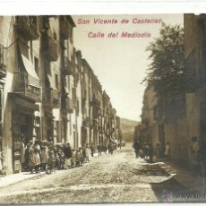 Postales: (PS-45443)POSTAL FOTOGRAFICA DE SAN VICENTE DE CASTELLET-CALLE DEL MEDIODIA. Lote 49503342