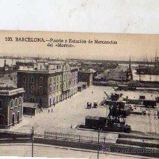 Postales: BARCELONA Nº 103 PUERTO Y ESTACIÓN DE MERCANCÍAS DEL MORROT SIN CIRCULAR EDICIÓN R.S. . Lote 49507329