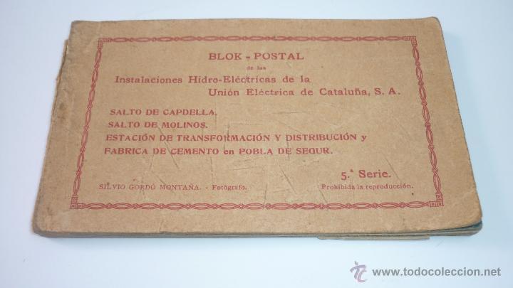 Postales: Instalaciones Hidro-Eléctricas. Lleida. Pobla de Segur. Bloc con 17 postales - Foto 7 - 49520489