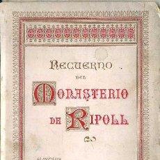 Postales: RECUERDO DEL MONASTERIO DE RIPOLL - 12 FOTOTIPIAS C. 1900 HENRICH. Lote 49539037