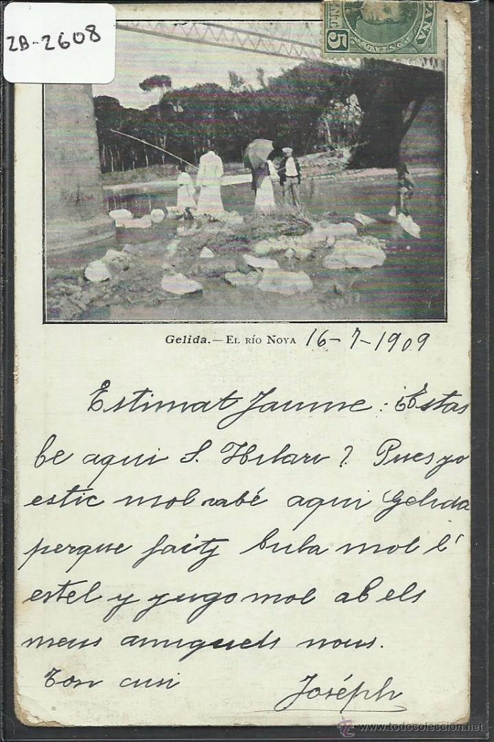 GELIDA - EL RIO NOVA - IMP LUIS TASSO - REVERSO SIN DIVIDIR - (ZB-2608) (Postales - España - Cataluña Antigua (hasta 1939))
