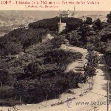 Postales: BARCELONA Nº 19 TIBIDABO TRANVIA DE VALLVIDRIERA L. ROISIN SIN CIRCULAR . Lote 49634716