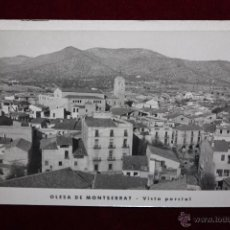 Postais: ANTIGUA FOTO POSTAL DE OLESA DE MONTSERRAT. BARCELONA. VISTA PARCIAL. SIN CIRCULAR. Lote 49824232