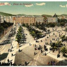 Postales: BARCELONA, 25 - PLAZA DE CATALUÑA - ED. JORGE VENINI - CIRCULADA DE BARCELONA A CASTALLA (ALICANTE). Lote 49966055