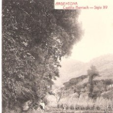 Postales: ARGENTONA CASTILLO BURRIACH SIGLO XV. Lote 50059136