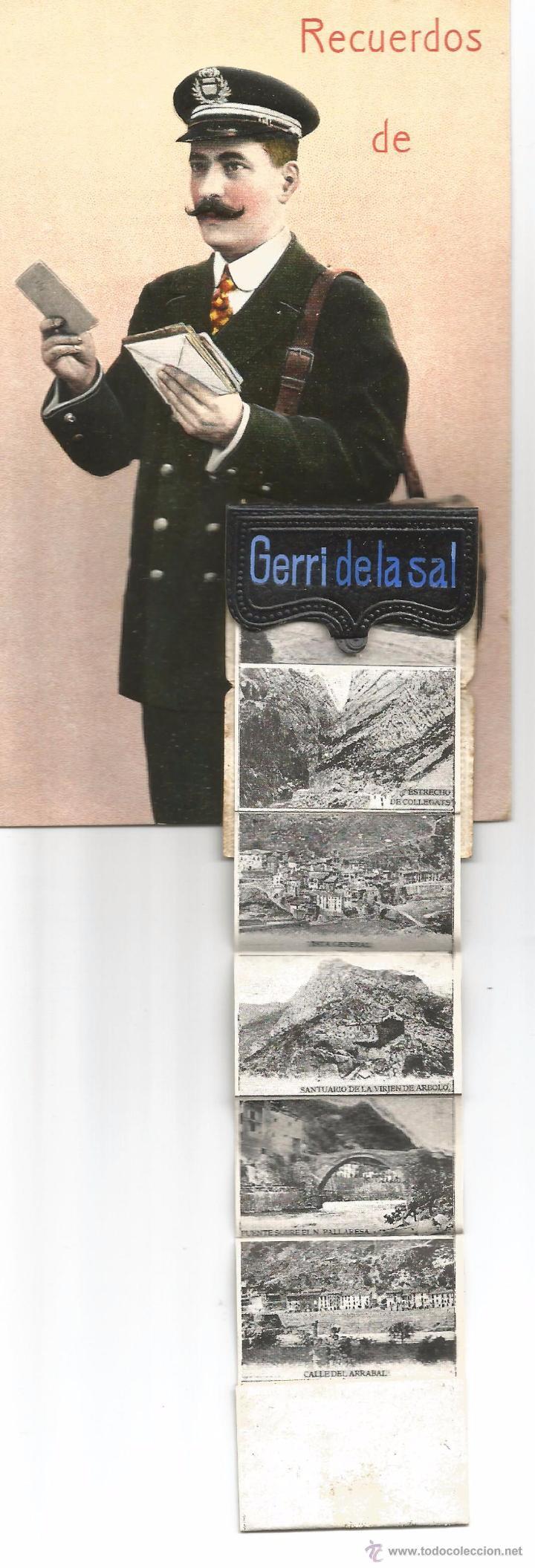Postales: GERRI DE LA SAL .- RECUERDO .- MINI FOTOGRAFIAS .- SIN CIRCULAR - Foto 2 - 50115918