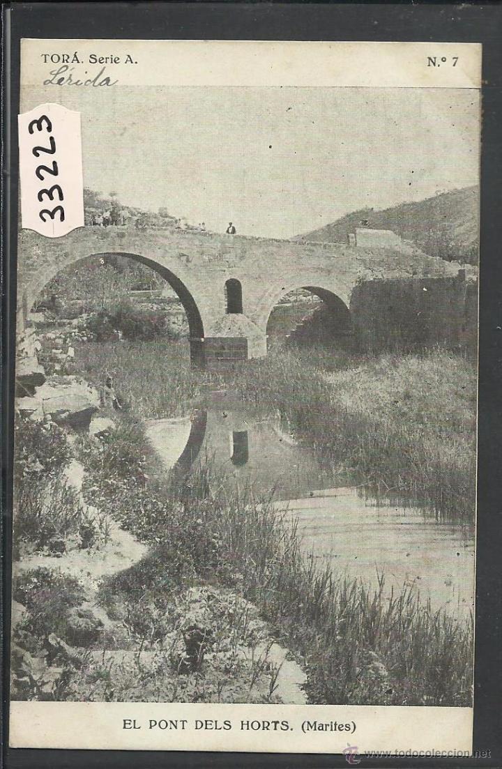 TORA - EL PONT DELS HORTS - CIRCULADA - (33223) (Postales - España - Cataluña Antigua (hasta 1939))