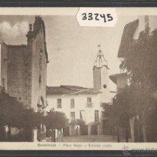 Postales: SANAÜJA - SANAHUJA - PLAÇA MAJOR I RELLOTGE PUBLIC - FOT· M. SOLE - (33245). Lote 50127772