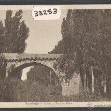 Postales: SANAÜJA - SANAHUJA - RIBERA I PONT DE PEDRA - FOT· M. SOLE - (33253). Lote 50127816