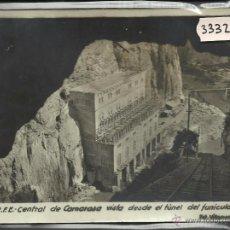 Postales: CAMARASA - R.F.E. - TUNEL FUNICULAR Y CENTRAL - MIDE 14,5 X 11 CM - FOT· VILLANUEVA (33323). Lote 50153040