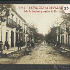 Postales: SANTA COLOMA DE FARNERS - C.O. 2 - CALLE DE CAMPRODON Y CARRETERA DE SILS - FOTOGRAFICA - (33613). Lote 50308259