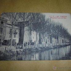 Postales: A.T.V. - 597 - TORTOSA ( ROQUETAS ) CANAL DEL EBRO ,POSTAL CIRCULADA 1908 - UNA PUNTA REDONDEADA . Lote 50385068