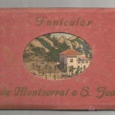 Postales: FUNICULAR DE MONTSERRAT A S. JUAN .- COLECCION 9 POSTALES ZERKOWITZ. Lote 50445063