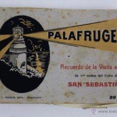Postales: P- 2214. PALAFRUGELL. RECUERDO DE LA VISITA AL FARO DEL CABO DE SAN SEBASTIAN. L. ROISIN. 20 VISTAS.. Lote 50494759