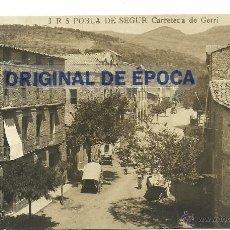 Postales: (PS-46215)POSTAL FOTOGRAFICA DE POBLA DE SEGUR-CARRETERA DE GERRI. Lote 50496000