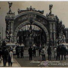 Postales: POSTAL FIESTAS DE BARCELONA 1910 ARCO PLAZA DE CATALUÑA SELLO BELTRA. Lote 50584323