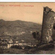 Postales: MONISTROL DE MONTSERRAT. 1910 TORRE ANTIGUA. Lote 50667631