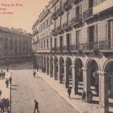 Postales: POSTAL REUS.- PLAZA DE PRIM Y PÓRTICOS ROISIN NUM.58. Lote 50723802