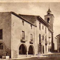 Postales: BELLVER DE CERDAÑA PLAZA MAYOR ESCRITA CIRCULADA SELLO. Lote 50778456