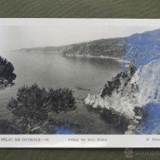 Postales: POSTAL SAN FELIU DE GUIXOLS 15, PEÑAS DE SAN ELMO, FOTOGRAFO R. GASSÓ, GIRONA. Lote 50914675