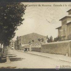 Postales: ARTES - CARRETERA DE MANRESA - ENTRADA A LA VILA - FOTOGRAFICA J. OBRADORS - (34630). Lote 50919979