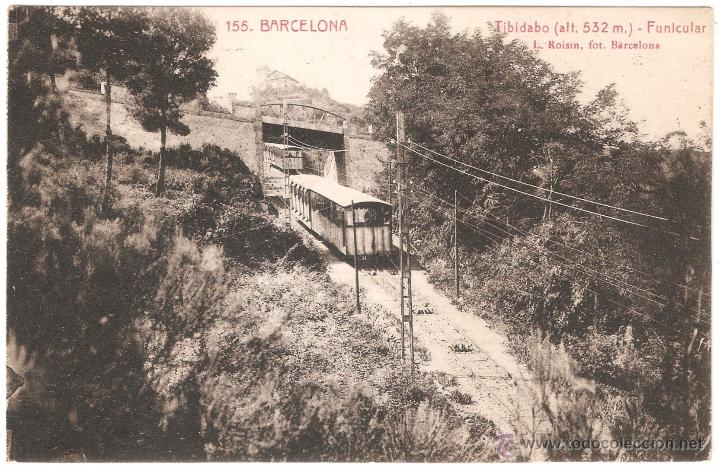 BARCELONA TIBIDABO FUNICULAR 1929 (Postales - España - Cataluña Antigua (hasta 1939))