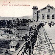 Postales: ANTIGUA POSTAL ANIMADA DE BARCELONA - PUENTE DE LA SECCIÓN MARITIMA. Lote 51018925