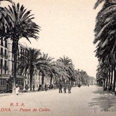 Postales: ANTIGUA POSTAL ANIMADA DE BARCELONA - PASEO DE COLON. Lote 51018933