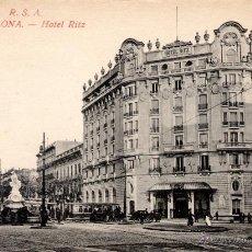 Postales: ANTIGUA POSTAL ANIMADA DE BARCELONA - HOTEL RITZ. Lote 51018938