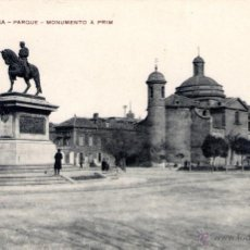 Postales: ANTIGUA POSTAL ANIMADA DE BARCELONA Nº 2 - PARQUE - MONUMENTO A PRIM. Lote 51024253