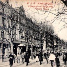 Postales: ANTIGUA POSTAL ANIMADA DE BARCELONA - LLANO DE LA BOQUERIA - TEATRO DE LICEO. Lote 51024306