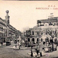 Postales: ANTIGUA POSTAL ANIMADA DE BARCELONA - CALLE DE PELAYO. Lote 51024391