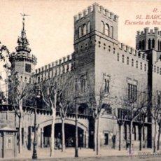 Postales: ANTIGUA POSTAL DE BARCELONA Nº 91 - ESCUELA DE MÚSICA - MUNICIPAL. Lote 51024444
