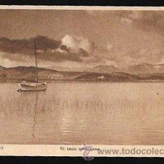 Postales: POSTAL * BANYOLES . EL LLAC EN CALMA * FOTO MATEU - HUECOGRABADO RIEUSSET. Lote 51061202