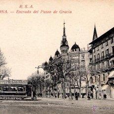 Postales: ANTIGUA POSTAL ANIMADA DE BARCELONA - ENTRADA AL PASEO DE GRACIA. Lote 51066670