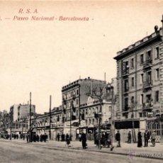 Postales: ANTIGUA POSTAL ANIMADA DE BARCELONA - PASEO NACIONAL - BARCELONETA. Lote 51066738