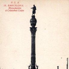 Postales: ANTIGUA POSTAL ANIMADA DE BARCELONA Nº 19 - MONUMENTO A CRISTOBAL COLON. Lote 51067326