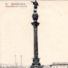 Postales: ANTIGUA POSTAL ANIMADA DE BARCELONA Nº 13 - MONUMENTO A CRISTOBAL COLON. Lote 51067342