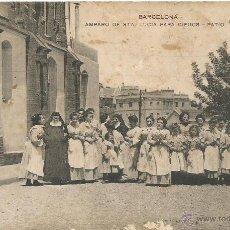 Postales: ANTIGUA POSTAL BARCELONA 1920 AMPARO DE SANTA LUCIA PARA NIÑAS CIEGAS CIEGOS PATIO NE NC. Lote 51073705